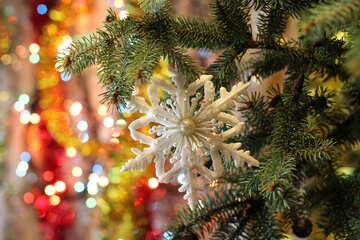 Christmas snowflake №18389