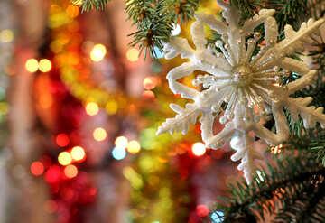Christmas snowflake №18390