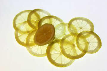 Sliced lemon №18317