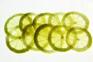 Sliced ​​lemon №18322