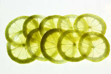 Sliced lemon №18322