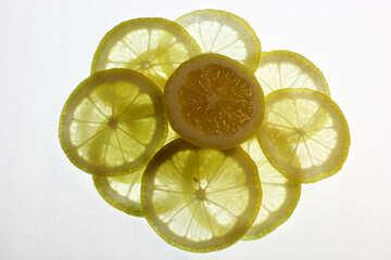 Sliced lemon №18327