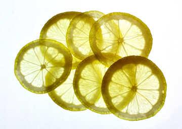 Thinly sliced lemon №18331