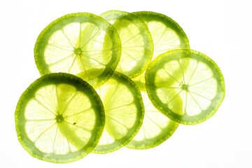 Thinly sliced lemon №18333