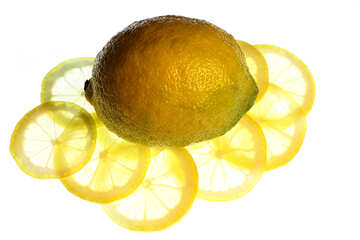 Glowing lemon №18321
