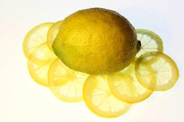 Sliced lemon №18320