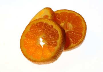 Sliced tangerine №18338