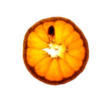 Sliced tangerine №18343