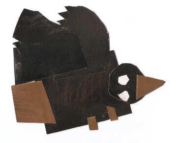 Applique crow №18667