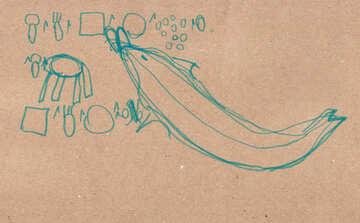 Delphin isst. Kinder zeichnen. №18718
