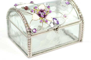 Crystal jewelry box №18077
