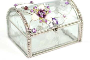 Kristall Schmuck-box