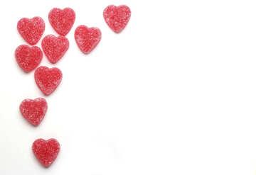 Бланк сердечки №18758