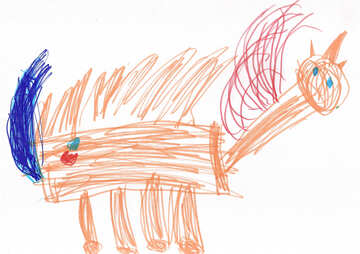 Pegasus Unicorn. Children drawing. №18683