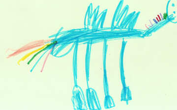 Pferd Regenbogen.Kinder zeichnen. №18672