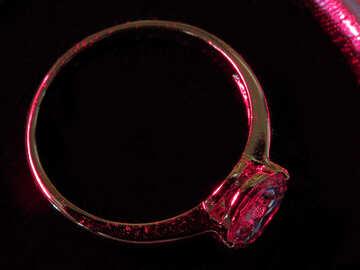 Anello con rubino №18289