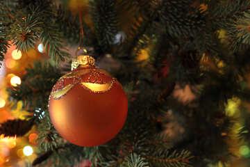 Red Christmas ball №18368