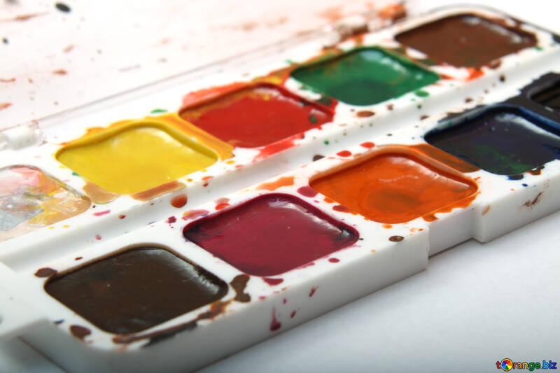 Watercolor paints №18025
