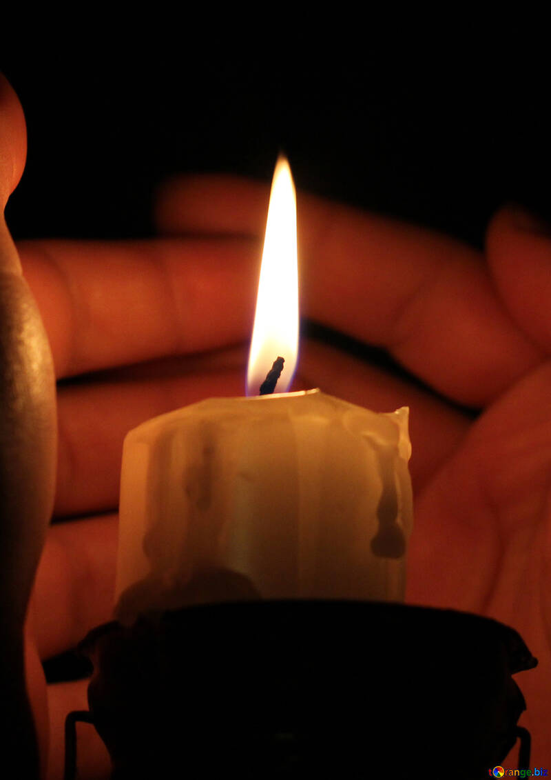 Warm candle №18086
