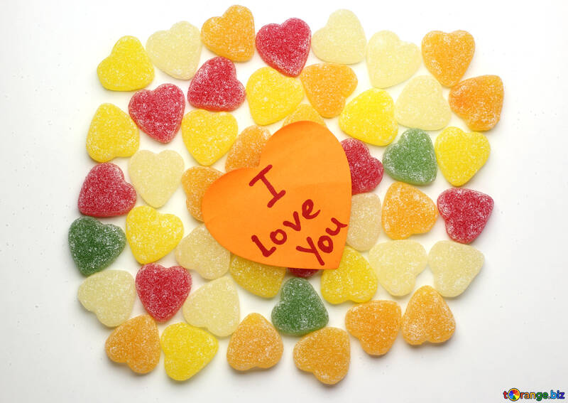 Background I love you in candy №18767