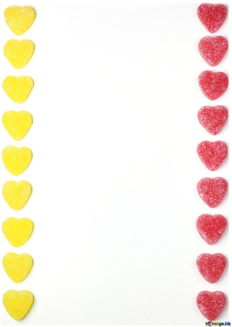 Background strip hearts №18771
