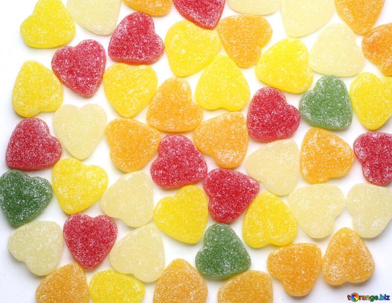 Разноцветные сердечки №18768