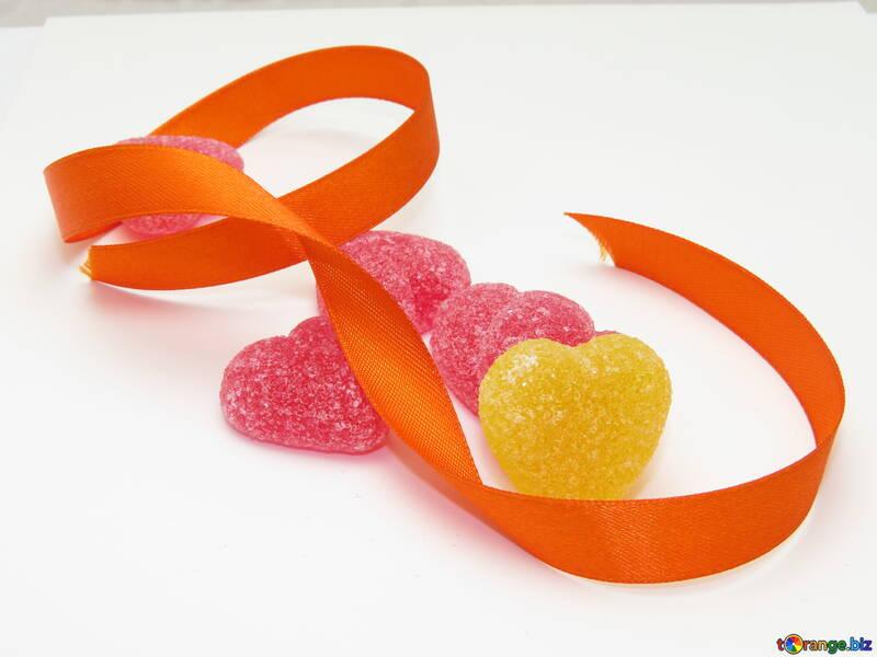 Hearts and Ribbon №18572