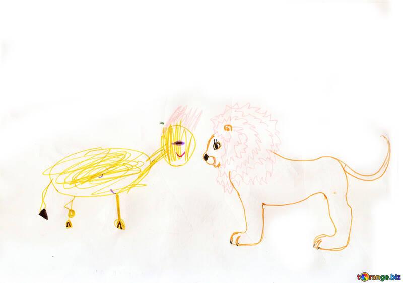 Les Dessins Bébé D Animaux Lionceau Enfants Dessin Enfance