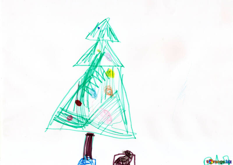 Christmas Trees Pictures Christmas Tree With Gifts Children Drawing