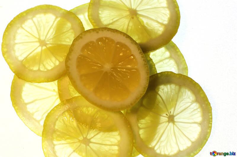 Sliced lemon №18326
