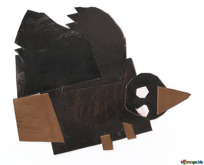 Corvi uccelli crow applique mestieri № 18667