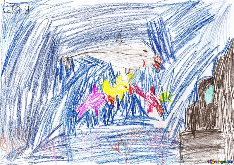 Unterwasser-Königreich. Kinder zeichnen. №18714