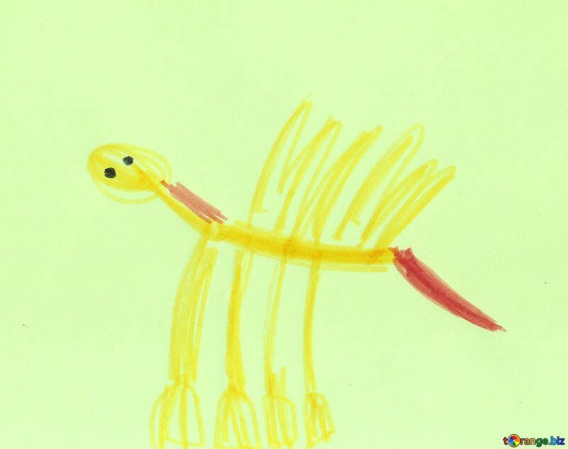 Disegno Di Un Cavallo Per Bambini Pegasus Con Coda Rosabambini Di