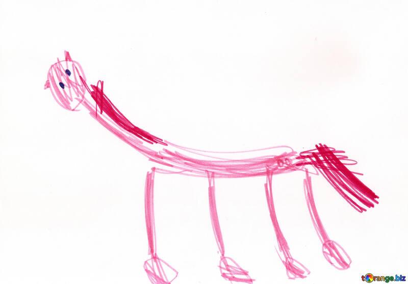 Disegno Di Un Cavallo Per Bambini Un Cavallo Con Criniera Rosa