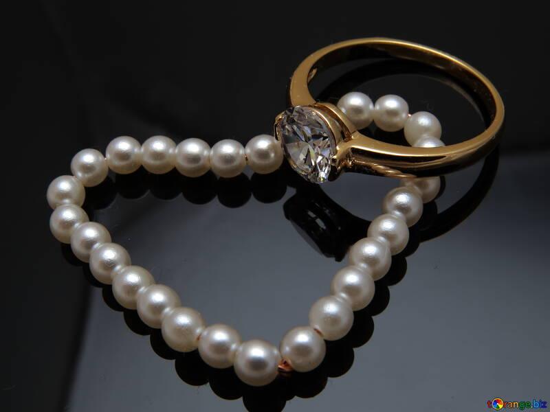 Pearl heart №18268