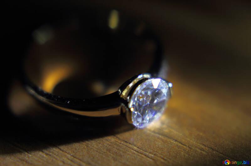 Anello con diamante oro №18587