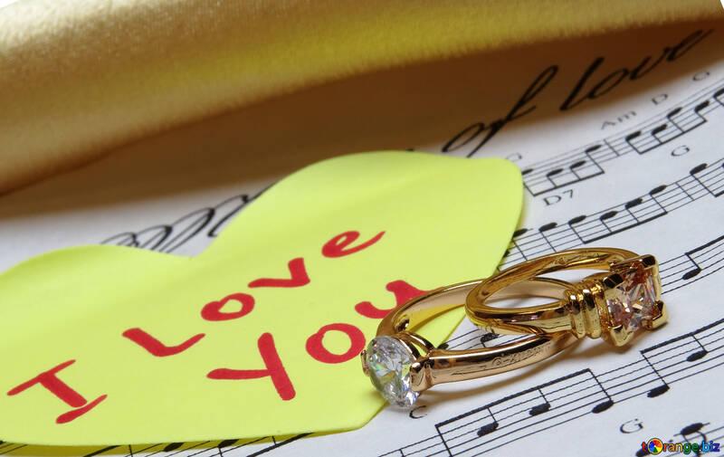 Card Wedding Music of Love №18221