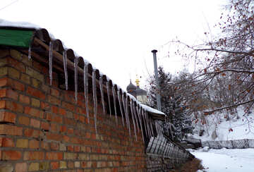 Icicles on the roof №19539