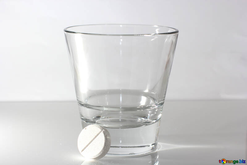 Tablet and glass of water №19754
