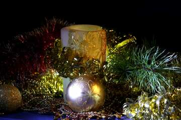 New Year`s Candle №2381