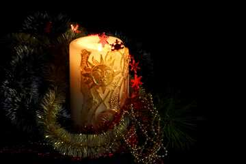 Christmas card with candle №2360