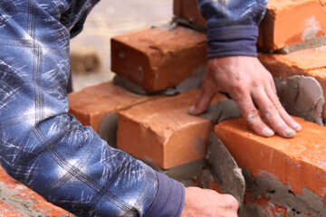 Construction of brick masonry building  №2917