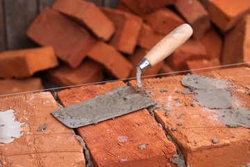 Trowel for masonry construction  №2942
