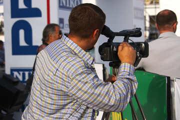 Cameraman news camera №2657