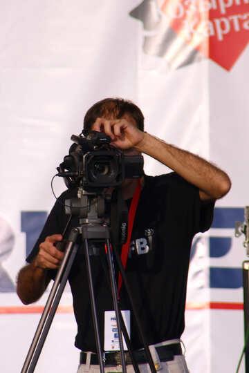 Kameramann bei der Arbeit  №2689