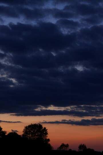 por la noche el cielo por la noche  №2396