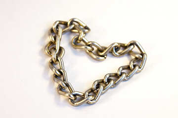 Chain in the form of heart №2088
