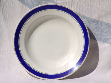 Plate  with  Blue №2521