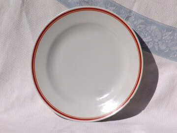 plate from the dining room