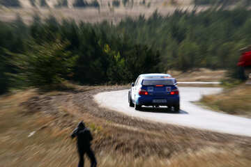 Zooming in shot. Rally car. №2630